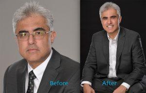 business headshot with retouching