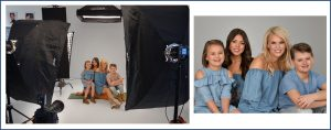 photography session of a family in our studio