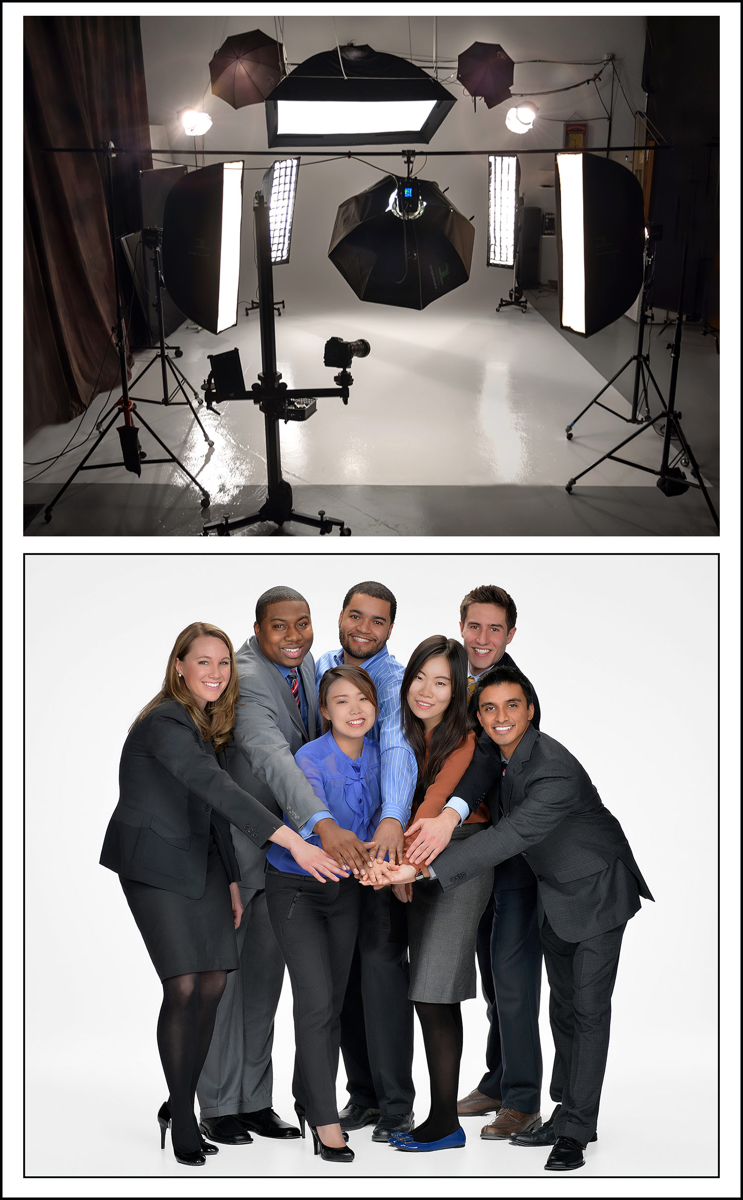 group photography for business sales