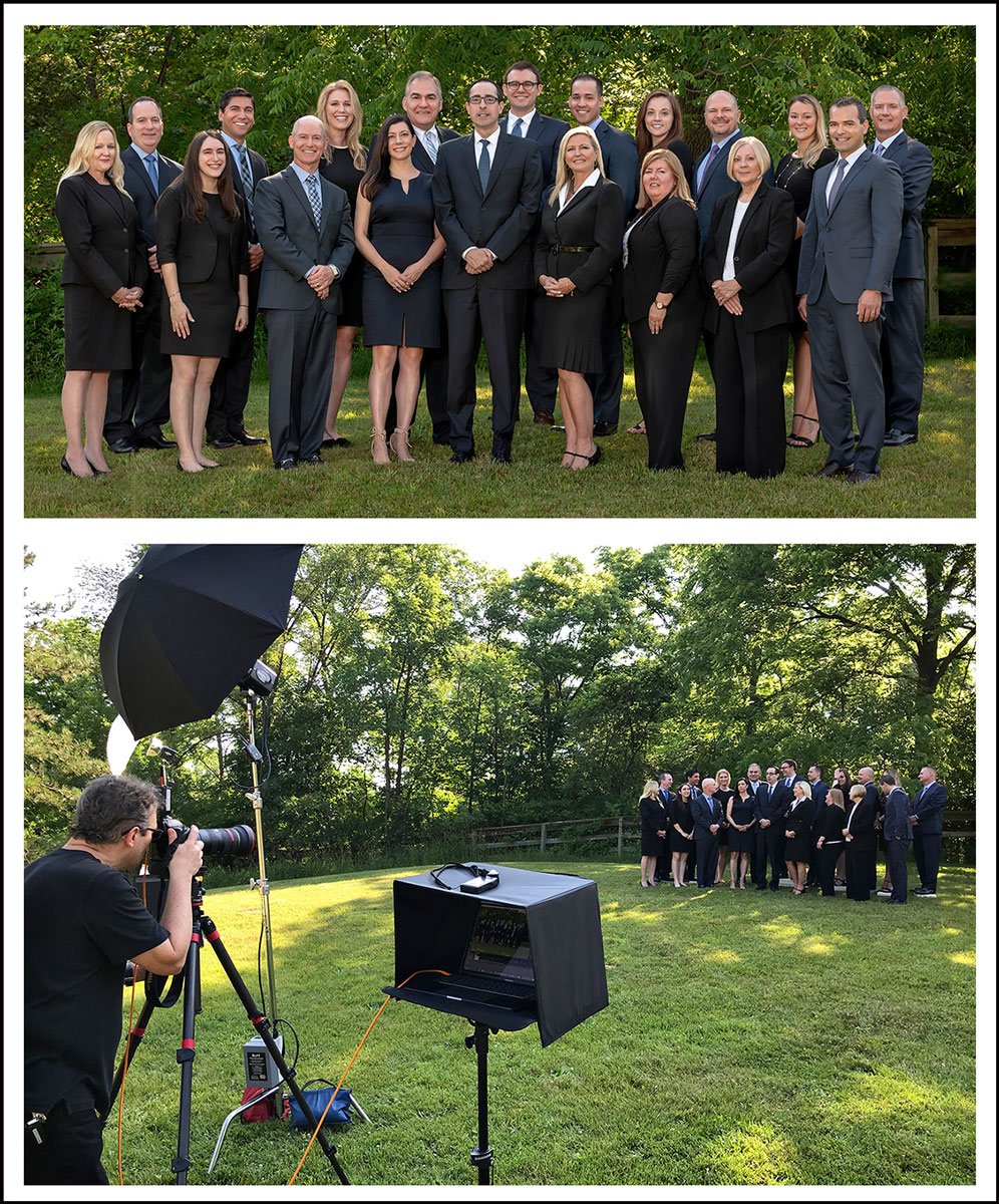 group photography for investment adviser brokers