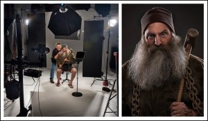 photographing celebrities in our photo studio