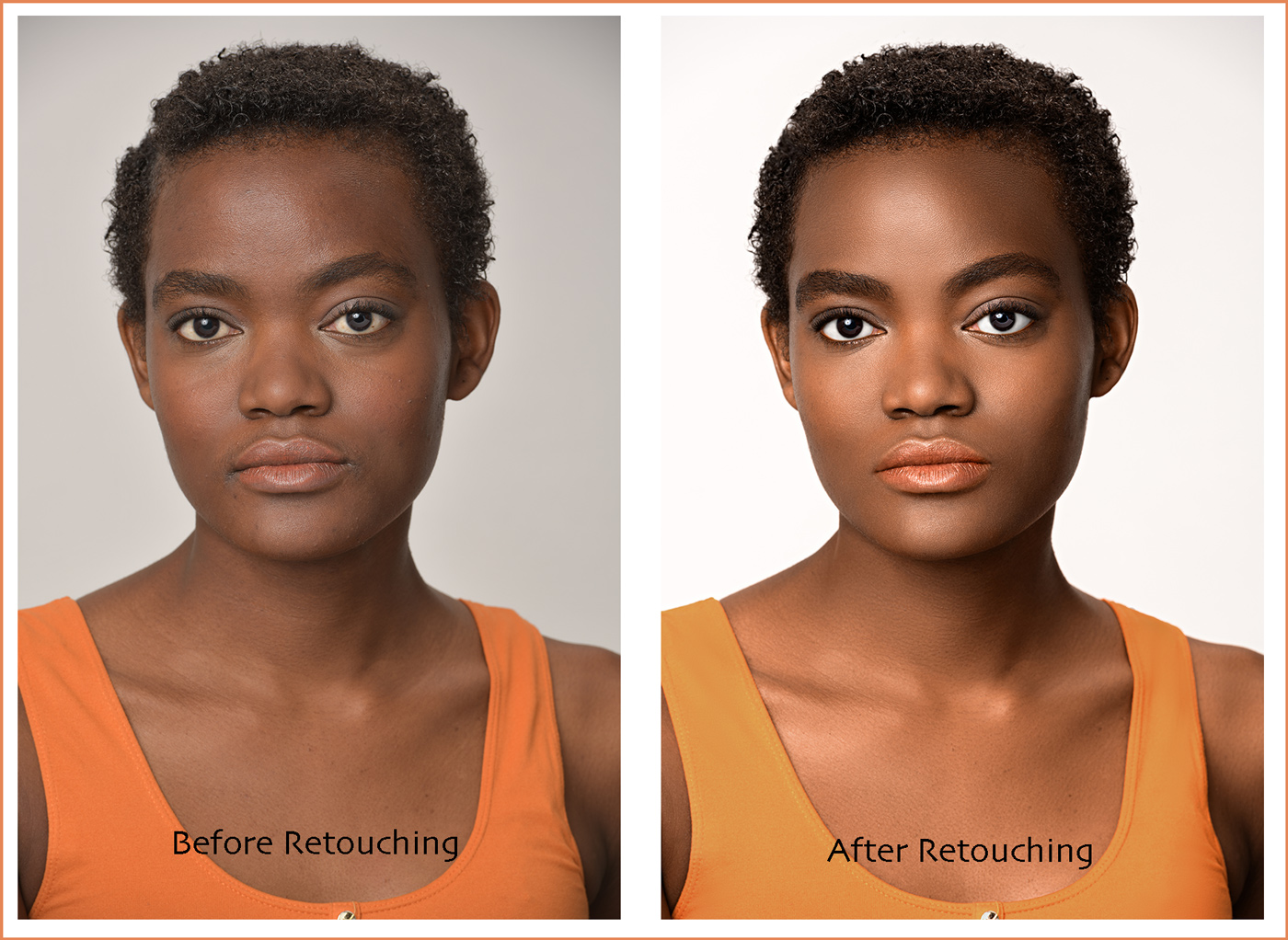 headshot portrait retouching