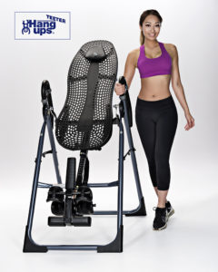 fitness photography with exercise equipment and model