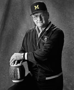 photo of Bo Schembechler for U of M charity calendar