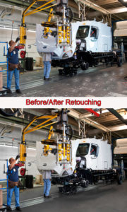 auto plant photo session truck manufacturing