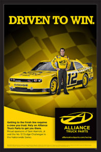 NASCAR racing poster