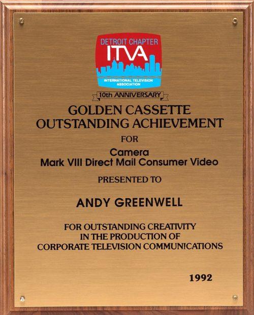 Andy's Golden Cassette Award For Camera