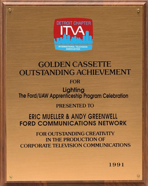 Andy's Golden Cassette Award For Lighting