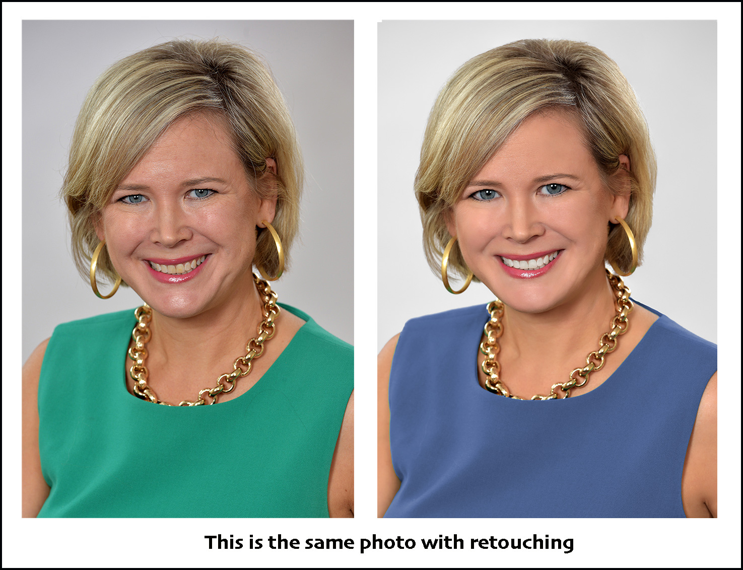 business woman photo retouching makeover