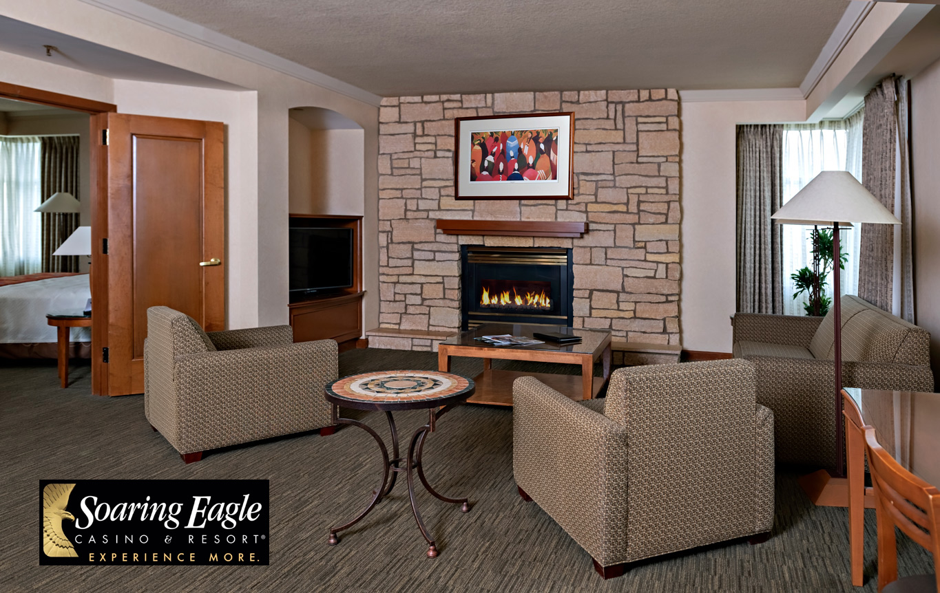 hotel suite fireplace photography
