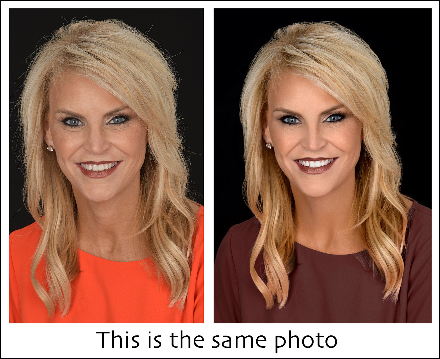 beauty makeover with airbrushing