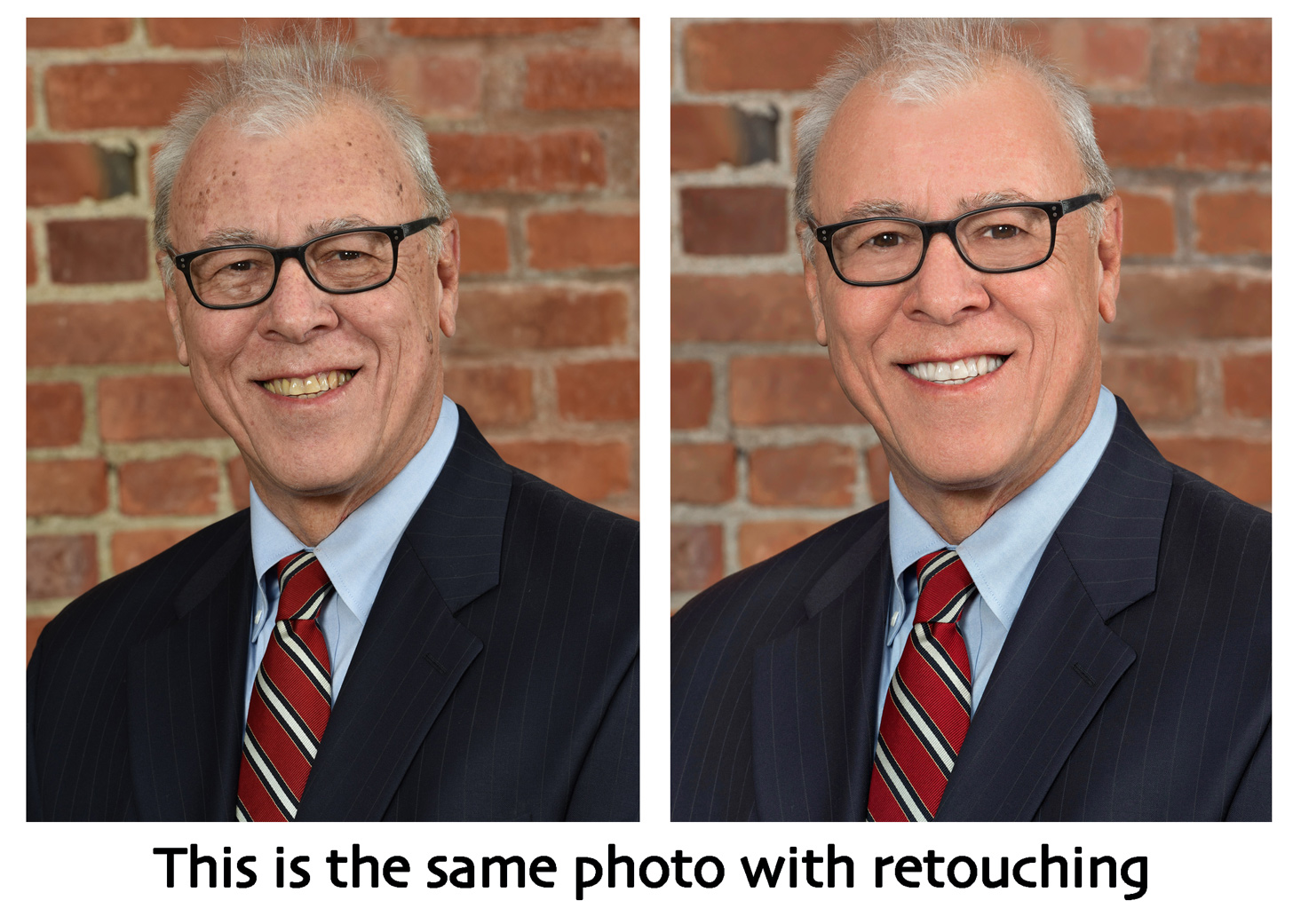 business headshot portraits with retouching