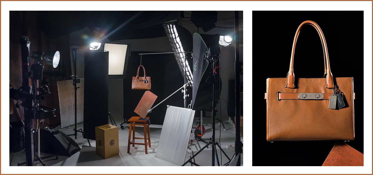 Coach purse photo shoot