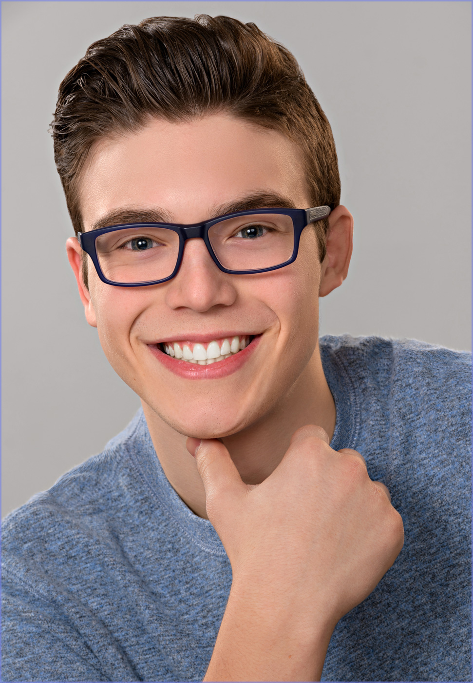 headshot of young actor model