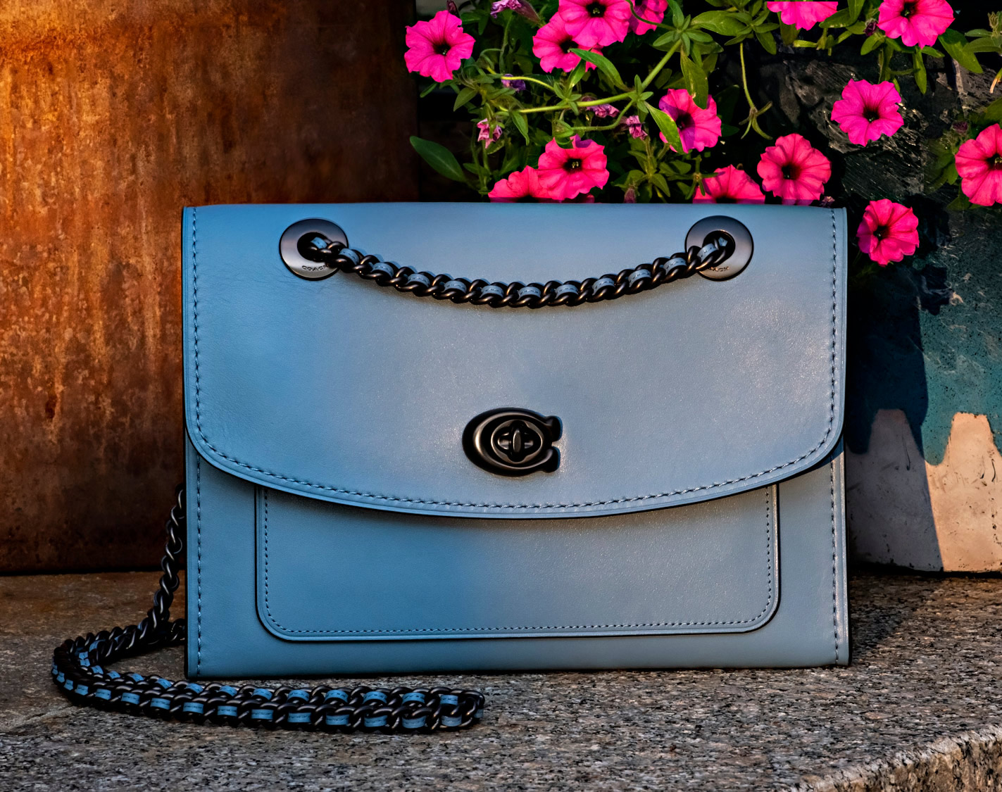photography for fashion of coach purse