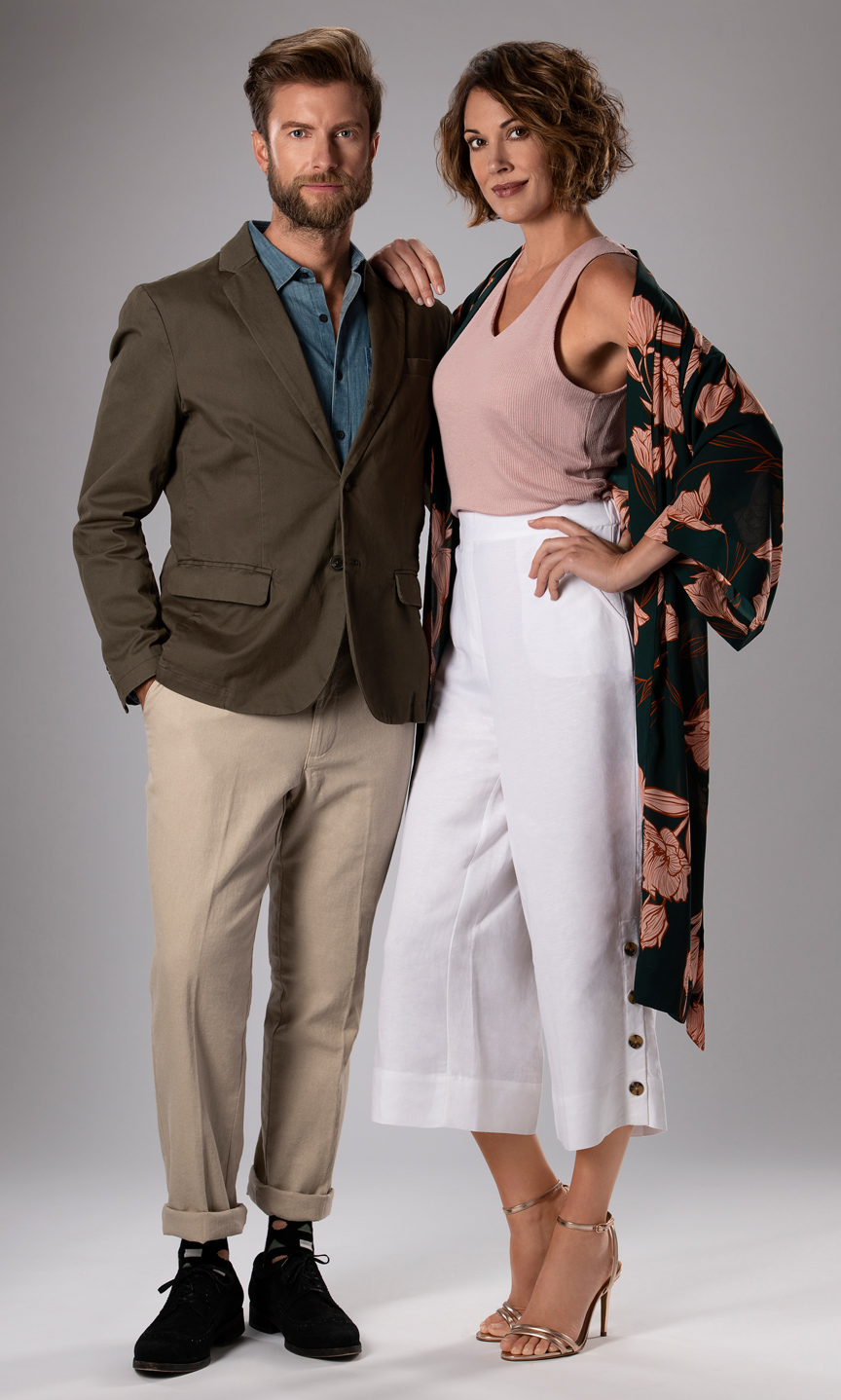 photo of a couple for a fashion shoot