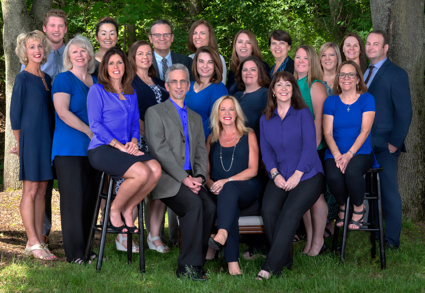 group photography outside for business companies
