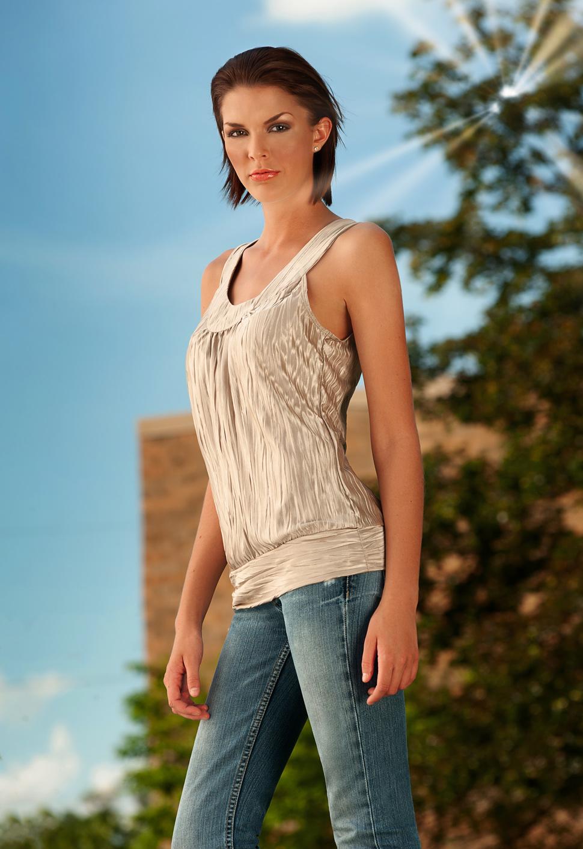 outdoor model photo for portfolio and comp card