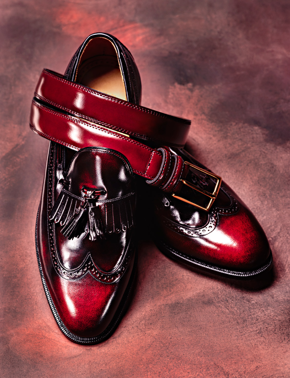 advertising photography of dress shoes