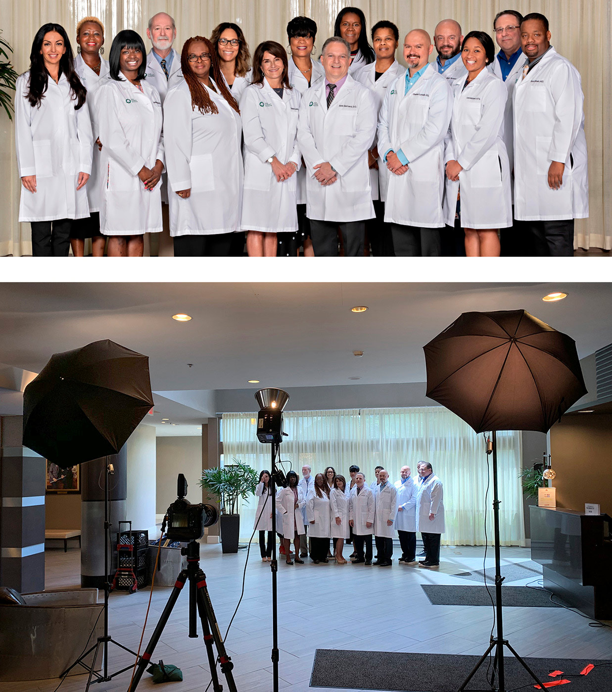 health care group photography business teams