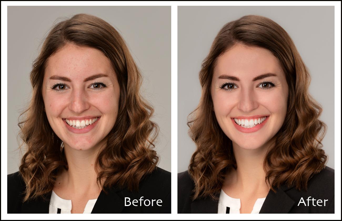 headshot retouching Photoshop airbrushing