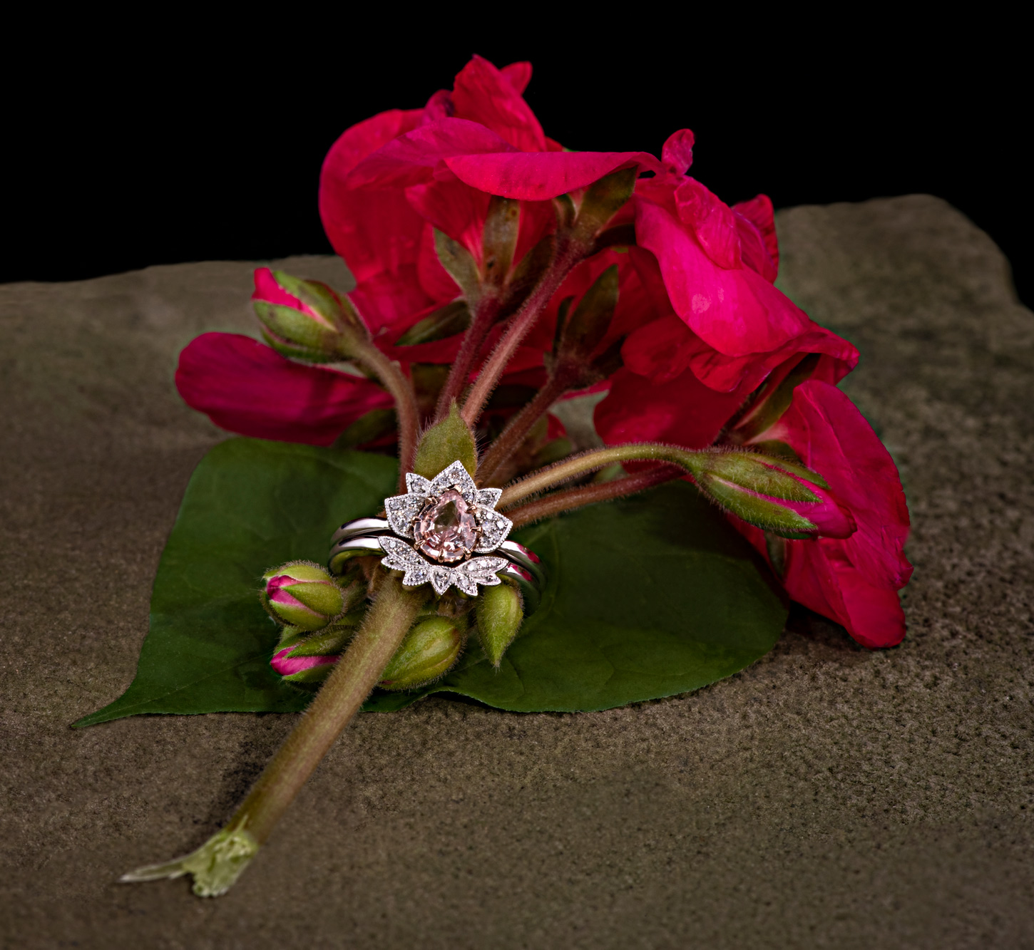 jewelry photography of rings