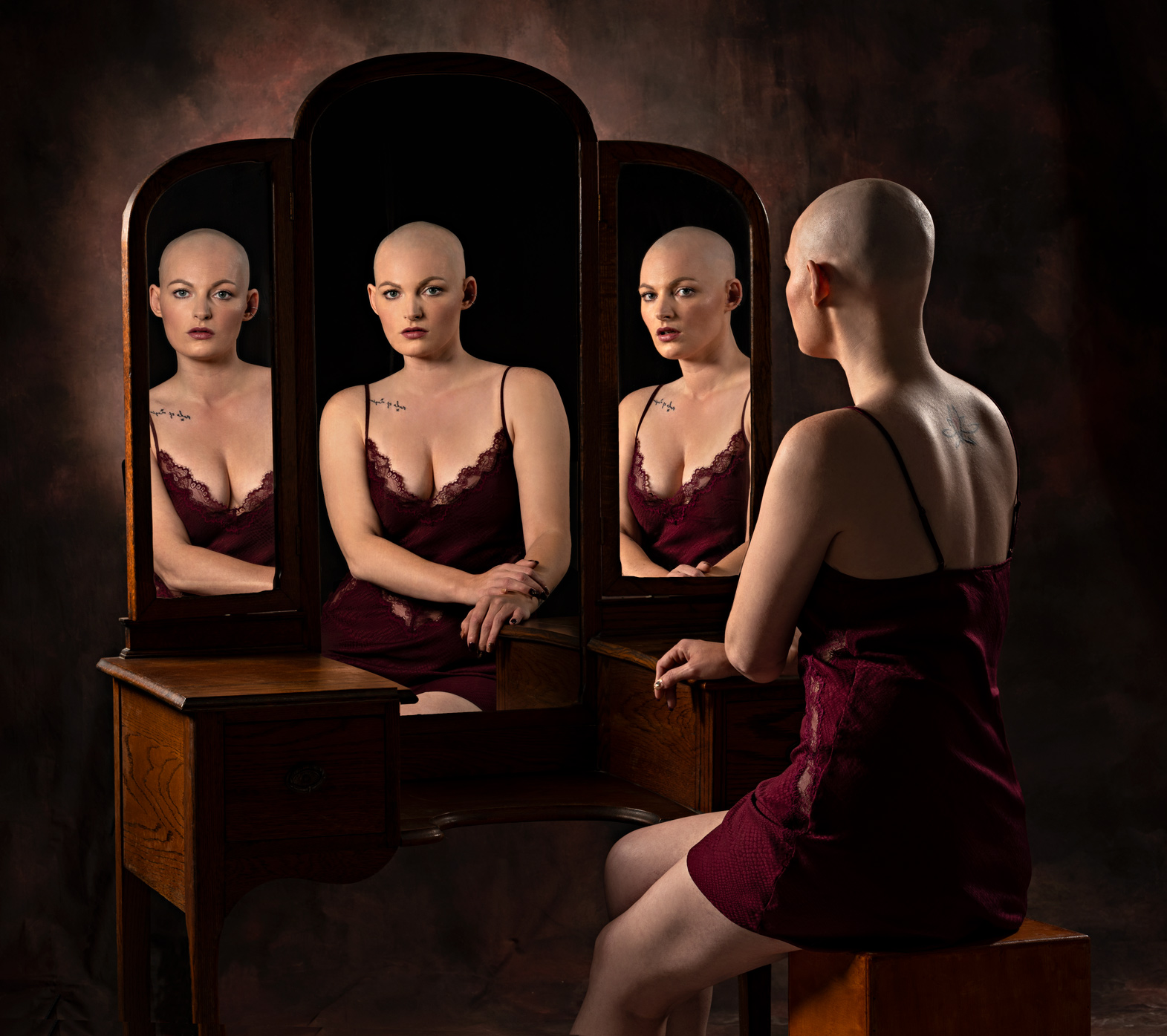 fashion photography of lingerie sleepwear