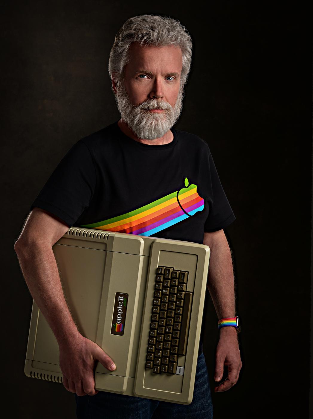 business headshot Apple computer