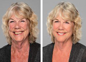 headshot portrait retouching airbrushing example