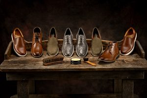 commercial product photography of shoes footwear