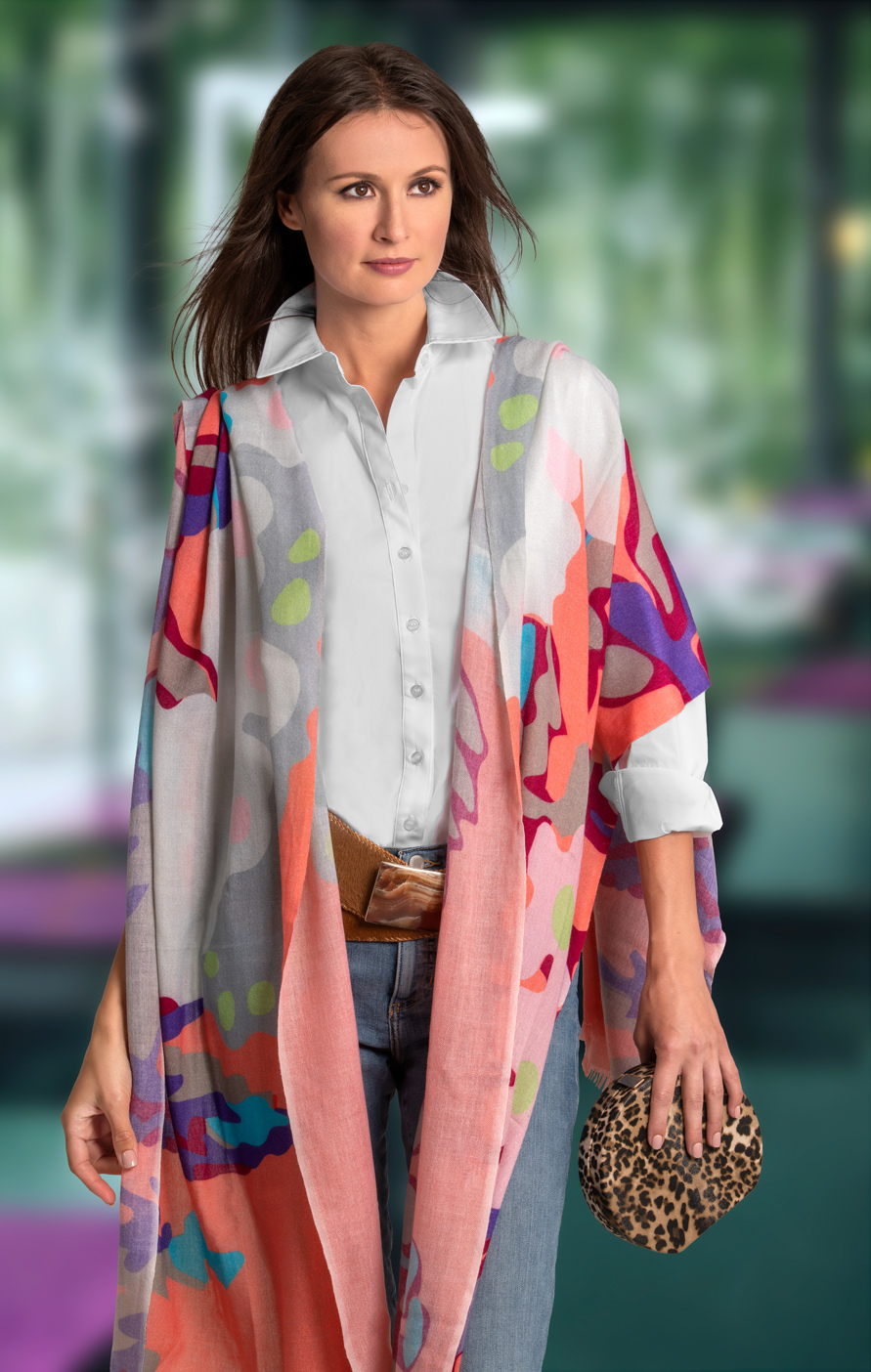 professional photography of fashion scarves