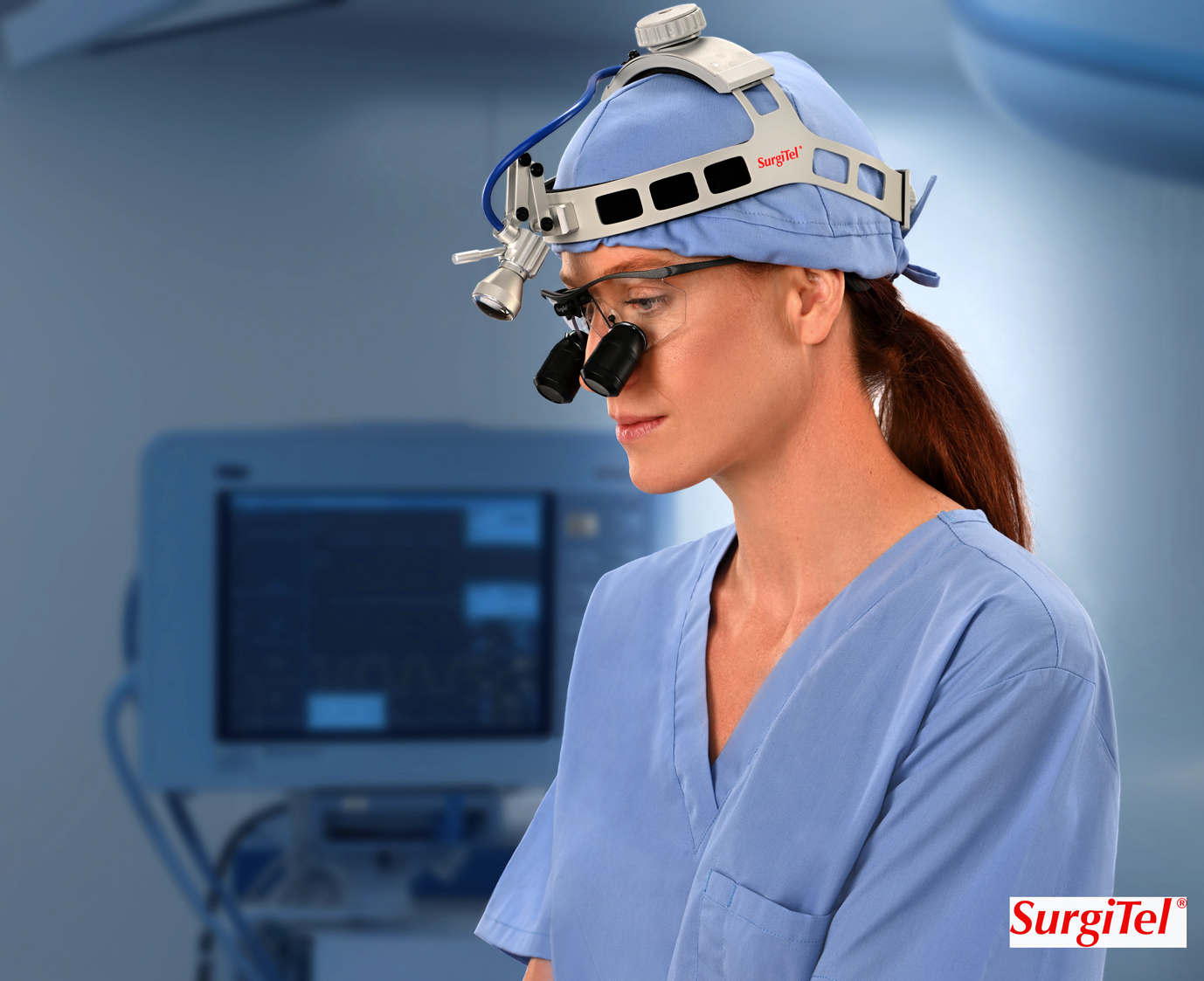 medical photography of operating room surgical glasses