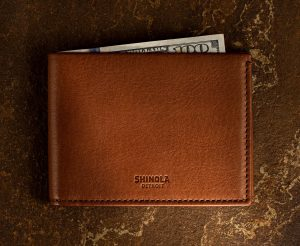 product photography of Shinola leather products